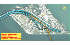 Port of Miami Tunnel Project - watson island map