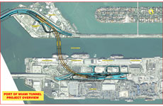 Port of Miami Tunnel Overview Map